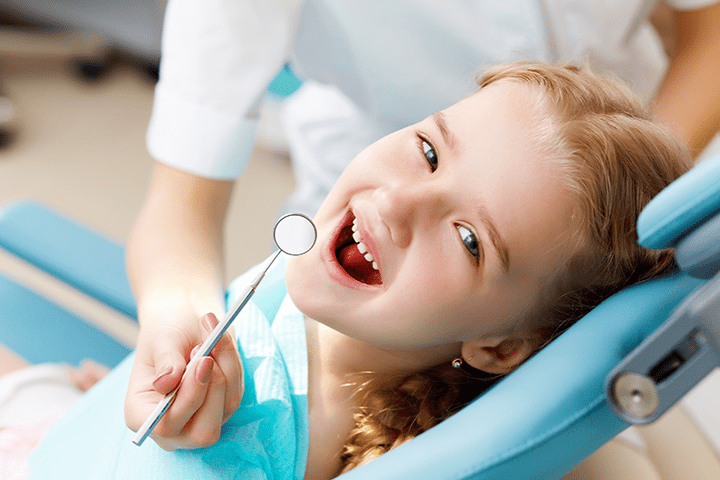 Dental exam for children